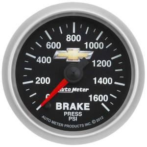 AUTO METER #880450 2-1/16 Brake Pressure Gauge GM COPO Camaro