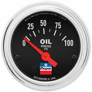 AUTO METER #880786 2-1/16 Oil Press Gauge Mopar Logo Series