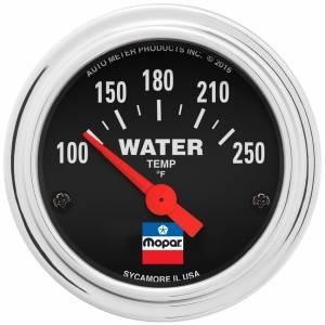 AUTO METER #880787 2-1/16 Water Temp Gauge Mopar Logo Series