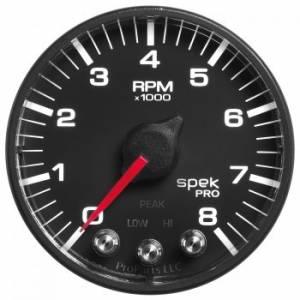 AUTO METER #P334328 Spek-Pro 2-1/16 Tach w/ Shift Light & Peak Mem.