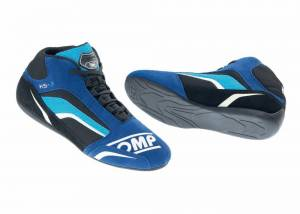 OMP RACING INC #IC/81324142 KS-3 Kart Shoe Blue And Black Cyan Size 42