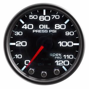 AUTO METER #P32552 Spek-Pro Oil Pressure Gauge 0-120psi 2-1/16