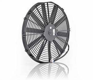 BE-COOL RADIATORS #75058 16in Euro Black Thin Lin e Electric Puller Fan