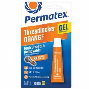 PERMATEX #25005 Threadlocker High Strength Orange 5 Gram Tube