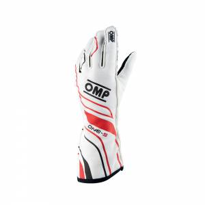 OMP RACING INC #IB/770/W/L ONE-S Gloves White Large