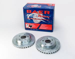 BAER BRAKES #55050-020 Performance Slotted And Drilled Rotors Pair