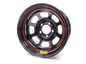 BASSETT #57RF375 15x7 5x4.5 3.75in BS Black Rolled Wheel