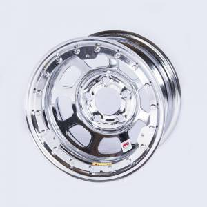 BASSETT #58D54ICLK 15x8 B/L Chrome Wheel 5x5 4in BS