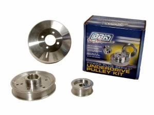 BBK PERFORMANCE #1555 3pc. Aluminum Pulley Kit - 96-00 GT/Cobra 4.6L