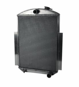 AFCO RACING PRODUCTS #80147-S-SS-N Radiator Kit Satin 38-46 GM Truck No Trans Cooler