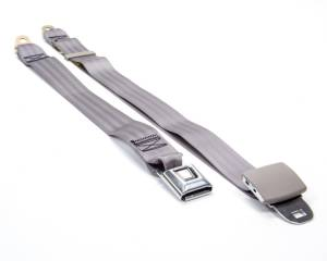 BEAMS SEATBELTS #M2535-1256-7465 2 Pt Seat Belt Grey w/ Nostalgia Push Button * Special Deal Call 1-800-603-4359 For Best Price