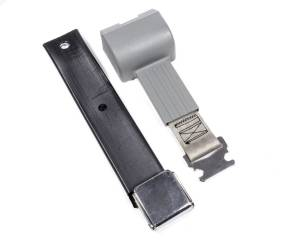 BEAMS SEATBELTS #80590312-00-AA 2 Pt retractable Seat Belt Airplane Style Gray