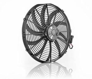 BE-COOL RADIATORS #75068 16in Euro Black Electric Fan Super Duty Puller