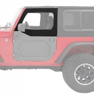 BESTOP #51733-17 Upper Fabric Half Doors Jeep 07-18 Wrangler JK