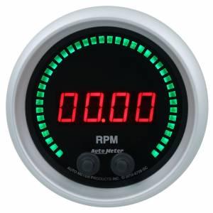 AUTO METER #6798-SC 3-3/8 16K RPM Tachometer Elite Digital SC Series