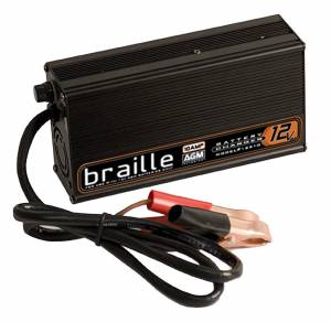 BRAILLE AUTO BATTERY #12310 Battery Charger 12-Volt 10amp Rapid Charge