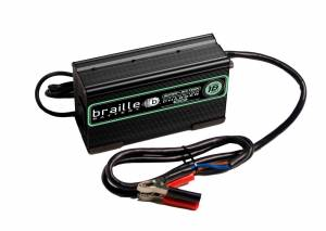 BRAILLE AUTO BATTERY #16325L Lithium Battery Charger Micro-Lite 16 Volt 25amp