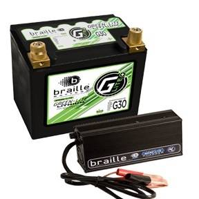 BRAILLE AUTO BATTERY #G30C Lithium 12 Volt Battery Green Lite w/Charger