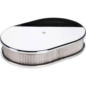 BILLET SPECIALTIES #15329 Small Oval Air Cleaner Plain