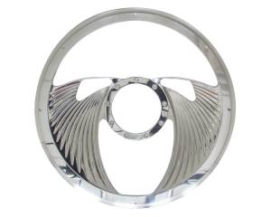 BILLET SPECIALTIES #29825 Half Wrap Steering Wheel -Eagle Polished