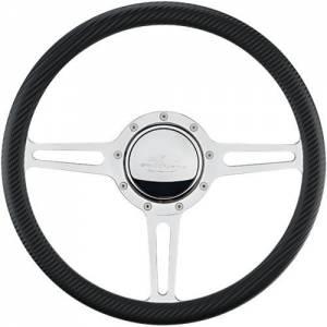 BILLET SPECIALTIES #30137 Steering Wheel 1/2 Wrap 14in Split Spoke