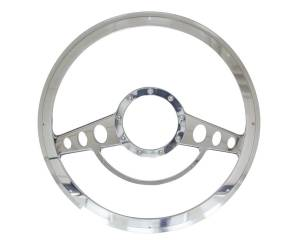 BILLET SPECIALTIES #30725 Half Wrap Steering Wheel Classic