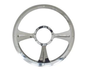 BILLET SPECIALTIES #30935 GTX01 Half Wrap Steering Wheel