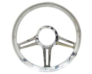 BILLET SPECIALTIES #30973 14in Speedway Steering Wheel Half Wrap