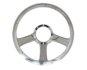 BILLET SPECIALTIES #30976 14in Anthem Steering Wheel Half Wrap