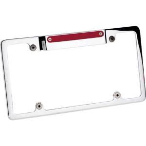 BILLET SPECIALTIES #55520 License Frame w/3rd Brake Light Polished
