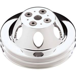BILLET SPECIALTIES #80220 Polished SBC 2 Groove Upper Pulley