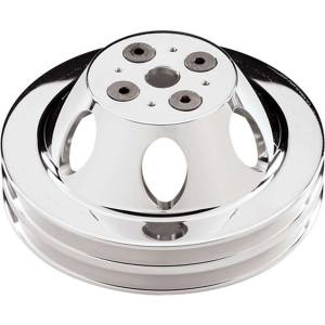BILLET SPECIALTIES #82220 Polished BBC 2 Groove Upper Pulley