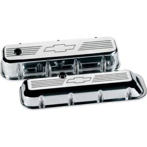BILLET SPECIALTIES #96121 BBC Valve Covers Bowtie Logo Tall