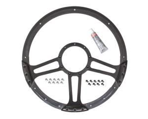 BILLET SPECIALTIES #BLK29263 14in Draft Steering Wheel Black Half Wrap