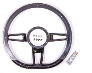 BILLET SPECIALTIES #BLK29409 Steering Wheel Formula D-Shaped 14in Black