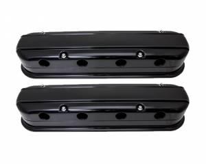 BILLET SPECIALTIES #P95476 LS Smooth Modular Valve Covers Black