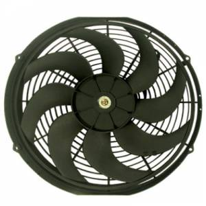 RACING POWER CO-PACKAGED #R1014 14In Electric Cooling F an 12V Curved Blades