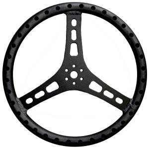 TRIPLE X RACE COMPONENTS #ST-0002BLK Steering Wheel 15in Dia 1-1/4in Tube Black