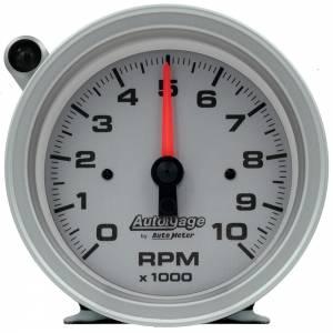 AUTO METER #233909 3-3/4in Autogage Tach - 10K RPM w/Shift Light