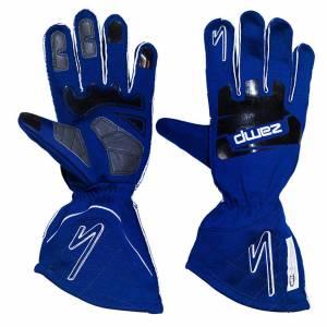 ZAMP #RG10004M Gloves ZR-50 Blue Medium Multi-Layer SFI 3.3/5
