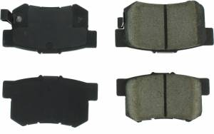 CENTRIC BRAKE PARTS #300.0536 Premium Semi-Metallic Br ake Pads with Shims and
