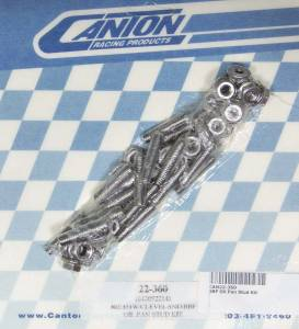 CANTON #22-360 SBF Oil Pan Stud Kit Stainless 6pt