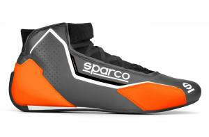 SPARCO #00128343GRAF Shoe X-Light Gray / Org Size 9-9.5 Euro 43