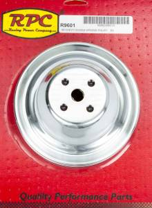 RACING POWER CO-PACKAGED #R9601 SBC SWP 2 GROOVE WATER P UMP PULLEY CHROME