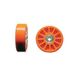 Wheelie Bar Wheels - 3/8in Hole- Orange (2)