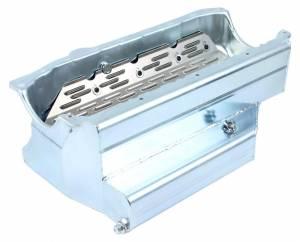 CHAMP PANS #CP102KO SBC Pro-Series Oil Pan w/Kickout 7.0