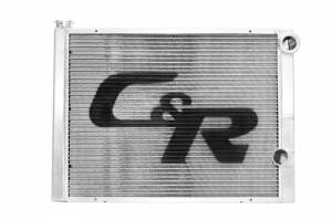 C AND R RACING RADIATORS #902-31161 Radiator 16 x 31 Double Pass High Outlet Open