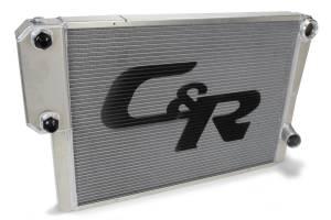 C AND R RACING RADIATORS #906-30191 Radiator 19 x 30 Double Pass w/Exchanger Closed