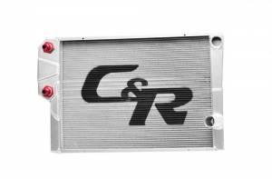C AND R RACING RADIATORS #918-30191 Radiator LW Chevy 19x31 Dual Pass w/ Heat Exchgr