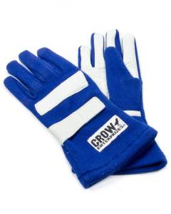 CROW ENTERPRIZES #11713 Gloves Medium Blue Nomex 2-Layer Standard